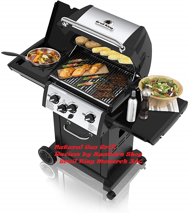 Natural Gas Grill Review by Zaatarn Shop - Broil King Monarch 340