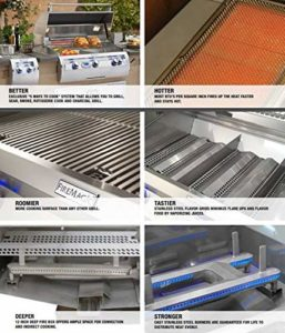 Fire Magic Aurora A430i Built-in Natural Gas Grill With Rotisserie - A430i-6e1n Specification review by Zaatarn Shop
