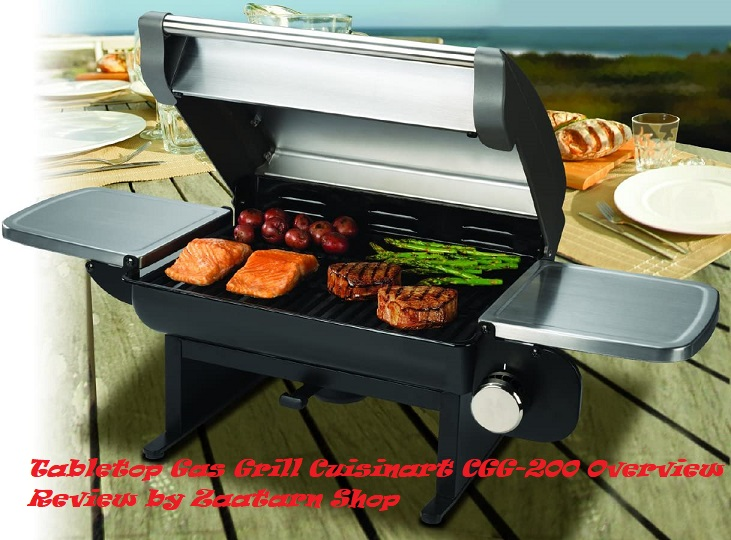 Tabletop Gas Grill Cuisinart CGG-200 Overview Review by Zaatarn Shop