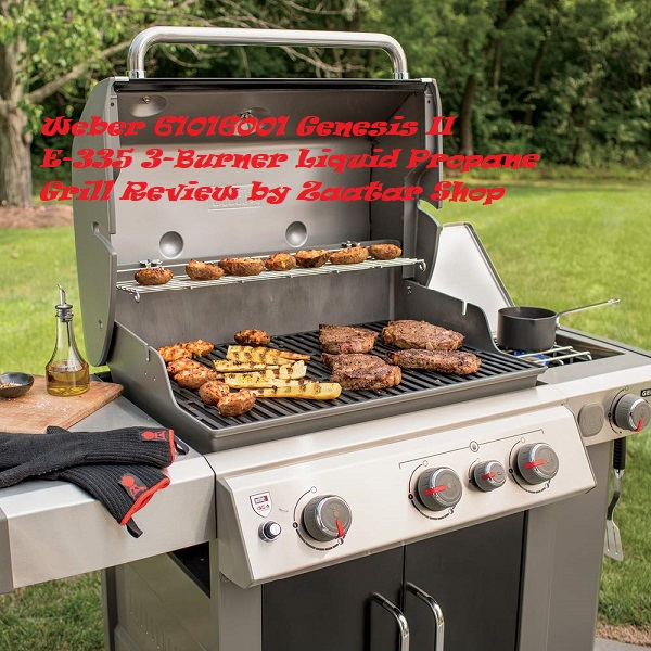 Liquid Propane Grill Weber 61016001 Genesis II E-335 3-Burner Review by Zaatarnw Shop